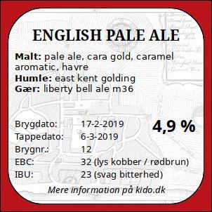 Engelsk pale ale - ølbryg nr 12