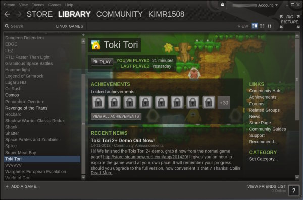 Steam klient til Linux