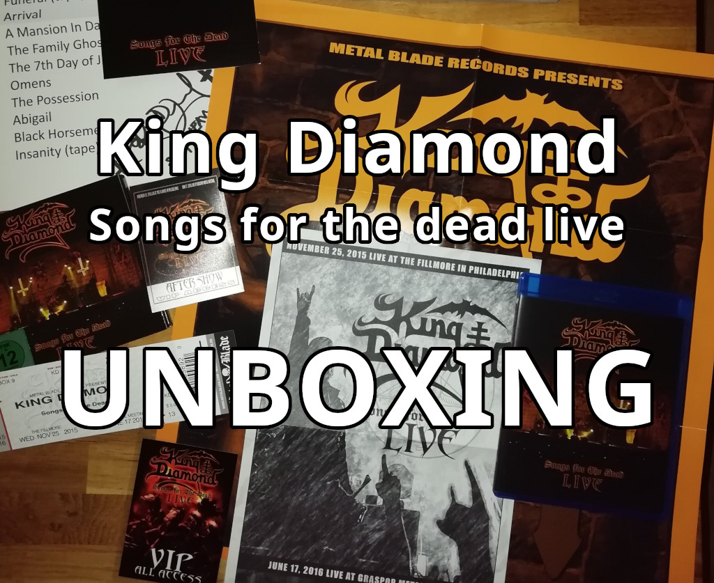 King Diamond Songs for the dead live boxset unboxing