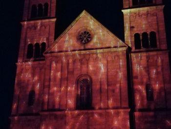 Se billeder og video fra lys- og animationsshowet Himlen over Viborg