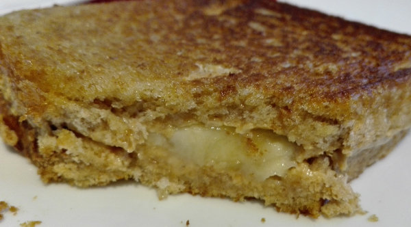 Peanutbutter banana sandwich